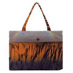 Rainbows Landscape Nature Medium Zipper Tote Bag