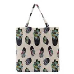 Succulent Plants Pattern Lights Grocery Tote Bag