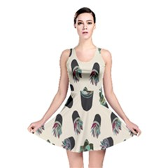 Succulent Plants Pattern Lights Reversible Skater Dress
