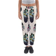 Succulent Plants Pattern Lights Women s Jogger Sweatpants