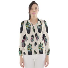 Succulent Plants Pattern Lights Wind Breaker (Women)