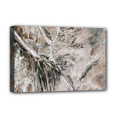 Earth Landscape Aerial View Nature Deluxe Canvas 18  x 12