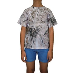 Earth Landscape Aerial View Nature Kids  Short Sleeve Swimwear