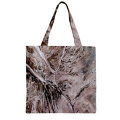 Earth Landscape Aerial View Nature Zipper Grocery Tote Bag