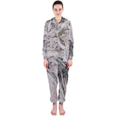 Earth Landscape Aerial View Nature Hooded Jumpsuit (ladies)