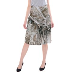 Earth Landscape Aerial View Nature Midi Beach Skirt