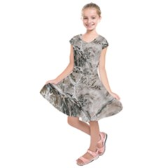 Earth Landscape Aerial View Nature Kids  Short Sleeve Dress