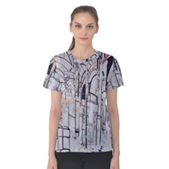 Cityscapes England London Europe United Kingdom Artwork Drawings Traditional Art Women s Cotton Tee
