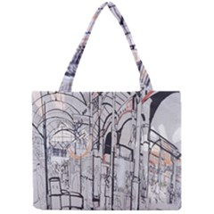 Cityscapes England London Europe United Kingdom Artwork Drawings Traditional Art Mini Tote Bag