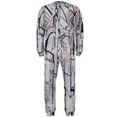 Cityscapes England London Europe United Kingdom Artwork Drawings Traditional Art OnePiece Jumpsuit (Men)