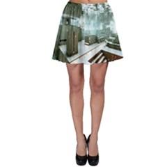 Digital Art Paint In Water Skater Skirt