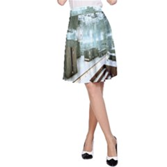 Digital Art Paint In Water A-Line Skirt