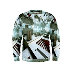 Digital Art Paint In Water Kids  Sweatshirt