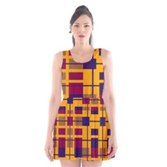 Pattern Scoop Neck Skater Dress