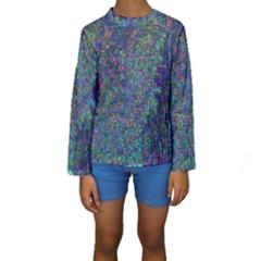 Glitch Art Kids  Long Sleeve Swimwear