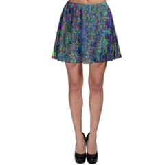 Glitch Art Skater Skirt