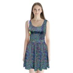 Glitch Art Split Back Mini Dress
