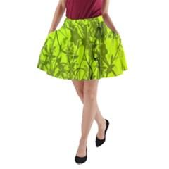 Concept Art Spider Digital Art Green A Line Pocket Skirt