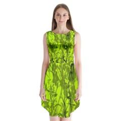 Concept Art Spider Digital Art Green Sleeveless Chiffon Dress