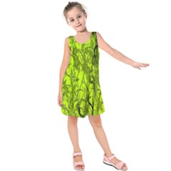 Concept Art Spider Digital Art Green Kids  Sleeveless Dress