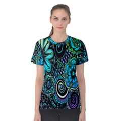 Sun Set Floral Women s Cotton Tee