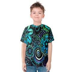 Sun Set Floral Kids  Cotton Tee