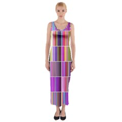 Plasma Gradient Gradation Fitted Maxi Dress