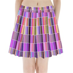 Plasma Gradient Gradation Pleated Mini Skirt