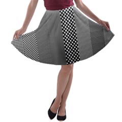 Semi Authentic Screen Tone Gradient Pack A-line Skater Skirt