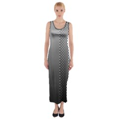 Semi Authentic Screen Tone Gradient Pack Fitted Maxi Dress