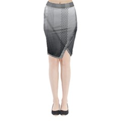 Semi Authentic Screen Tone Gradient Pack Midi Wrap Pencil Skirt