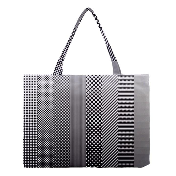 Semi Authentic Screen Tone Gradient Pack Medium Tote Bag