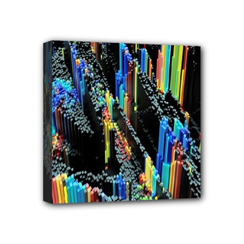 Abstract 3d Blender Colorful Mini Canvas 4  X 4