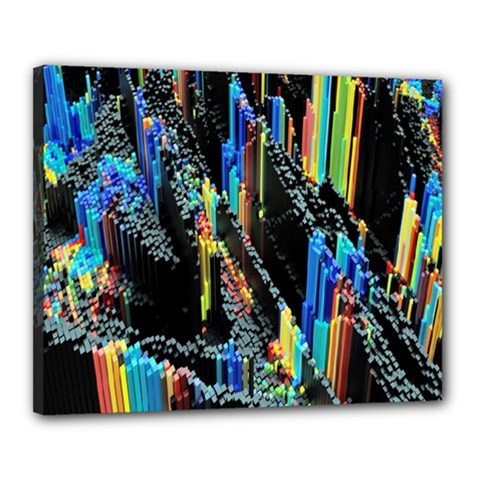 Abstract 3d Blender Colorful Canvas 20  X 16
