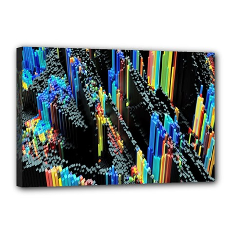 Abstract 3d Blender Colorful Canvas 18  X 12