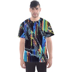 Abstract 3d Blender Colorful Men s Sport Mesh Tee