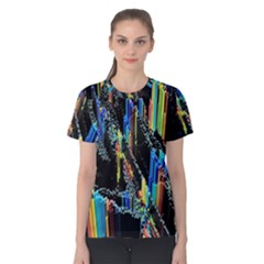 Abstract 3d Blender Colorful Women s Cotton Tee