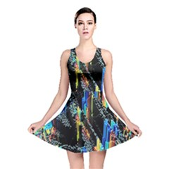 Abstract 3d Blender Colorful Reversible Skater Dress