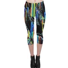 Abstract 3d Blender Colorful Capri Leggings