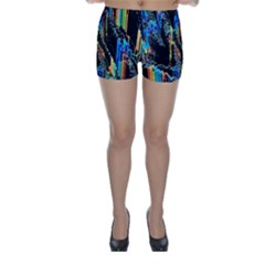Abstract 3d Blender Colorful Skinny Shorts