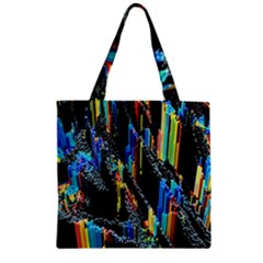 Abstract 3d Blender Colorful Zipper Grocery Tote Bag