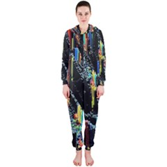 Abstract 3d Blender Colorful Hooded Jumpsuit (ladies)