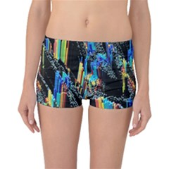Abstract 3d Blender Colorful Boyleg Bikini Bottoms