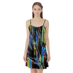 Abstract 3d Blender Colorful Satin Night Slip