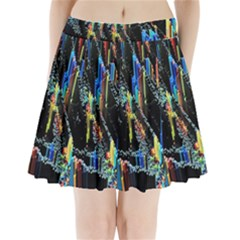 Abstract 3d Blender Colorful Pleated Mini Skirt