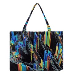 Abstract 3d Blender Colorful Medium Tote Bag