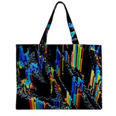 Abstract 3d Blender Colorful Medium Zipper Tote Bag