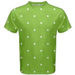 Mages Pinterest Green White Polka Dots Crafting Circle Men s Cotton Tee