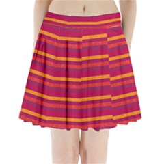 Lines Pleated Mini Skirt
