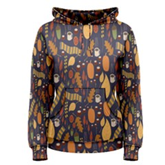 Macaroons Autumn Wallpaper Coffee Women s Pullover Hoodie